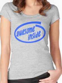 Awesome inside Women's Fitted Scoop T-Shirt