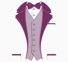 Tuxedo Purple Kids Clothes