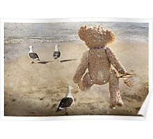 Chasing after seagulls Poster