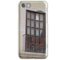 Weathered Red Door on a Balcony iPhone Case/Skin