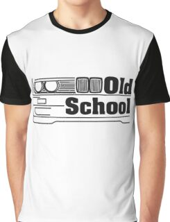 E30 Old School - Black Graphic T-Shirt