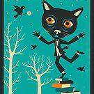 Tarot Card Cat: The Fool by JazzberryBlue