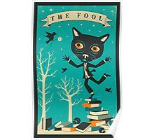 Tarot Card Cat: The Fool Poster