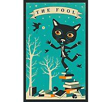 Tarot Card Cat: The Fool Photographic Print