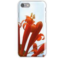 Orange Flowers Against Blue Sky iPhone Case/Skin