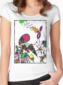 Coloured Rain Women's Fitted Scoop T-Shirt