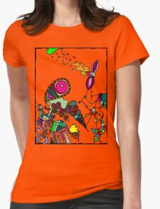Coloured Rain Womens Fitted T-Shirt