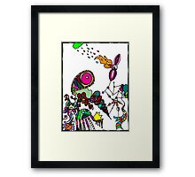 Coloured Rain Framed Print