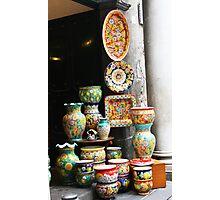 Italian pottery Photographic Print