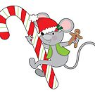 Candy Cane Mouse by Maria Bell