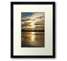 Shining waters Framed Print