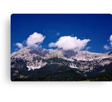 Fluffy Mountain Clouds - Wilder Kaiser Canvas Print