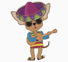 Chihuahua Guitar Kids Tee