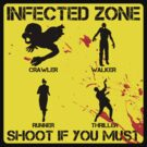 INFECTED ZONE - crawler, walker, runner, thriller zombie by bomdesignz
