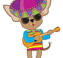 Chihuahua Guitar by Maria Bell