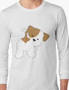 Cute Puppy Rear View Long Sleeve T-Shirt