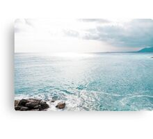 Blue Sea and sky background Canvas Print