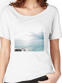 Blue Sea and sky background Women's Relaxed Fit T-Shirt