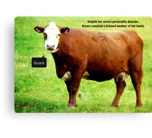 Bessie thought she was a duck, but we loved her regardless.  Canvas Print