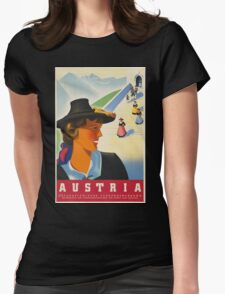 Vintage poster - Austria Womens Fitted T-Shirt