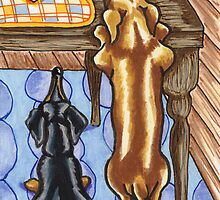 Dachshunds want a Cookie by offleashart