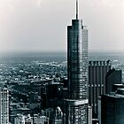 Chicago Cityscapes Black & White Vintage by Daisy Yeung