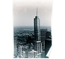 Chicago Cityscapes Black & White Vintage Poster