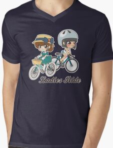 Ladies Ride Mens V-Neck T-Shirt