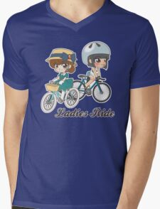 Ladies Ride Mens V-Neck T-Shirt
