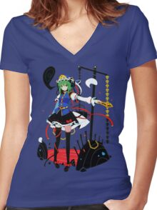 Touhou - Shikieiki Yamaxanadu Women's Fitted V-Neck T-Shirt
