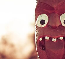 Maori Face Carving - New Zealand by cyasick