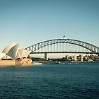 Sydney Opera House and Bridge by cyasick