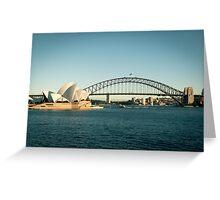 Sydney Opera House and Bridge Greeting Card
