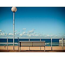 Bondi Beach Bench  Photographic Print