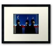 Heads In Sacks, Hearts On The Horizon Framed Print