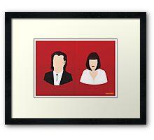 Flat Pulp Fiction  Framed Print