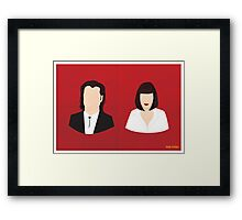 Flat Pulp Fiction  Framed Print