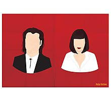Flat Pulp Fiction  Photographic Print