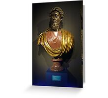 Roman Bust Greeting Card