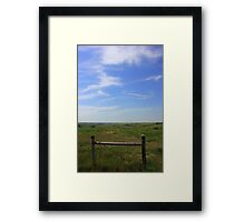 Prairie Fence Framed Print