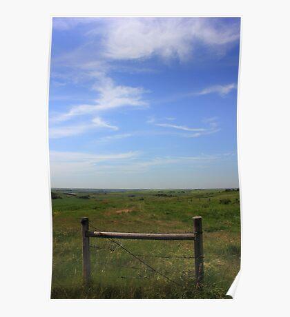 Prairie Fence Poster