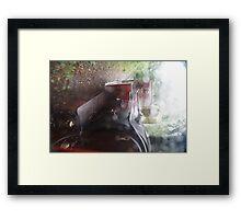 Steam Train Through The Rain Framed Print