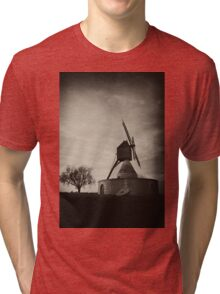 Windmill Loire Valley France Tri-blend T-Shirt