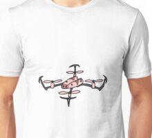 Cool Drone Flying Pig Art Unisex T-Shirt