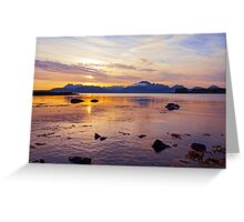 Sunset over the Scottish Cuillin Mountains of Skye Greeting Card