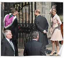 Prince Edward & Sophie arrive at Mike & Zara's wedding Poster