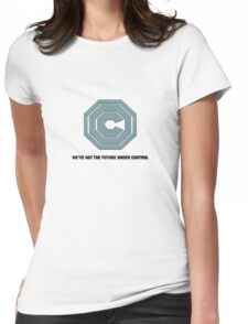 OMNICORP - WE'VE GOT THE FUTURE UNDER CONTROL - ROBOCOP REBOOT Womens Fitted T-Shirt