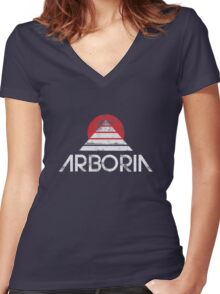 Arboria Institute (vintage style) Women's Fitted V-Neck T-Shirt