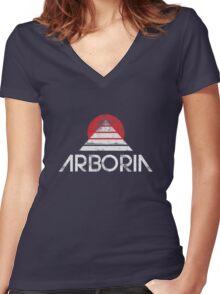 Arboria Institute  Women's Fitted V-Neck T-Shirt