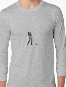 Tiger Woods Fragmented Glass T-Shirt Design  Long Sleeve T-Shirt
